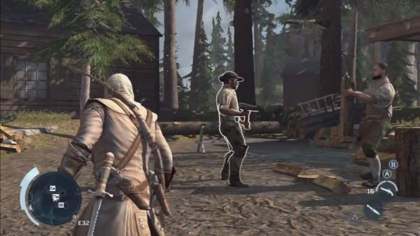 The player could study an enemy in the same way Connor gathered information on the people of the Homestead